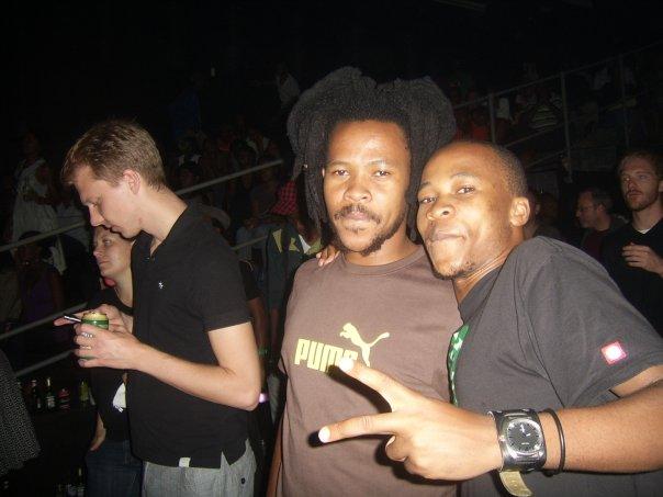 With Thabo Makobela and Rob Mothipa Sob.
