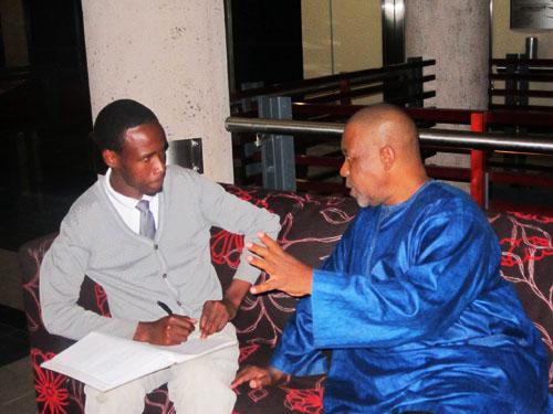 Khaya Sibeko and Prof. Mbulelo Mzamane