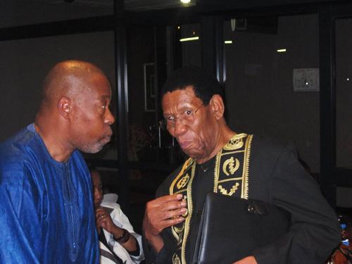 Prof. Mzamane and Dr. Motsoko Pheko