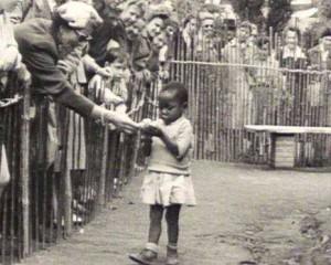 little afrikan girl in a human zoo