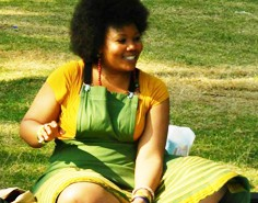 Vangile Gantsho, Poet and Host of No camp chairs poetry picnic