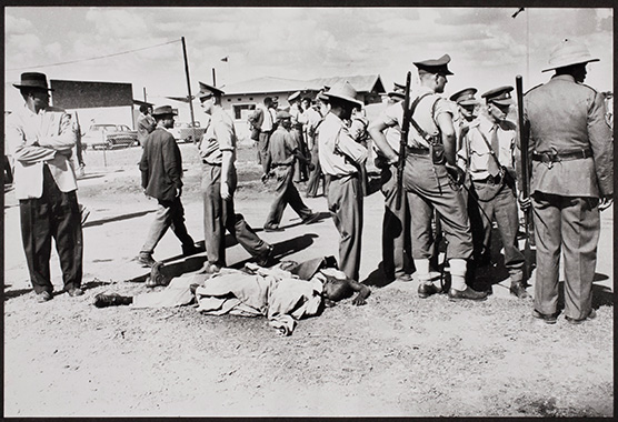 Peter Magubane, Sharpeville Shooting, March 21, 1960. © International Center of Photography, gift of Dr. Peter Magubane.