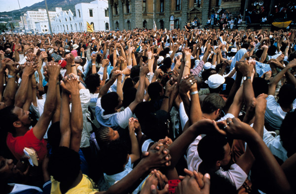 A Country Coming Together, Cape Town 11 February 1990  Photo by: Dr Peter Magubane