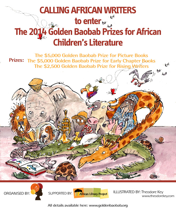newly launched $20, 000 Golden Baobab Prizes for children's literature and illustrations