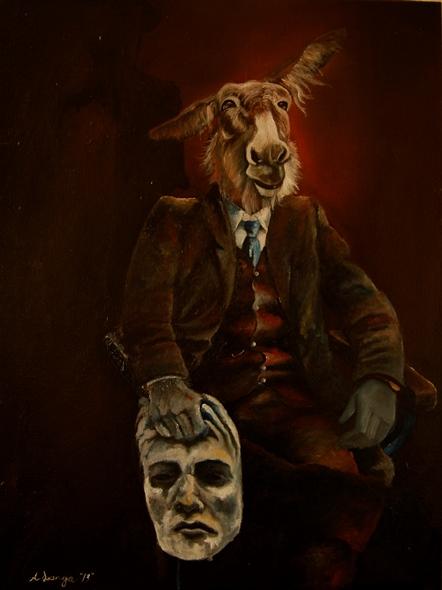 Langa, Azael. Potrait of a Mule 2013. Oil on canvas