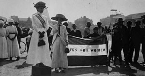 The Suffragettes wanted the right for women to vote. Source: Museum Africa, Johannesburg.