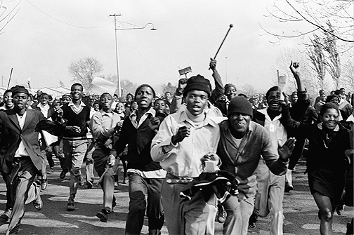 345: Peter Magubane, Soweto Uprising, June 16, 1976.