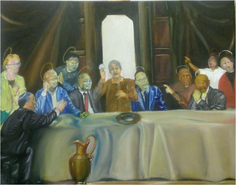 Deadly deception-2014-Oil paint on canvas-71cm x 55.5 cm