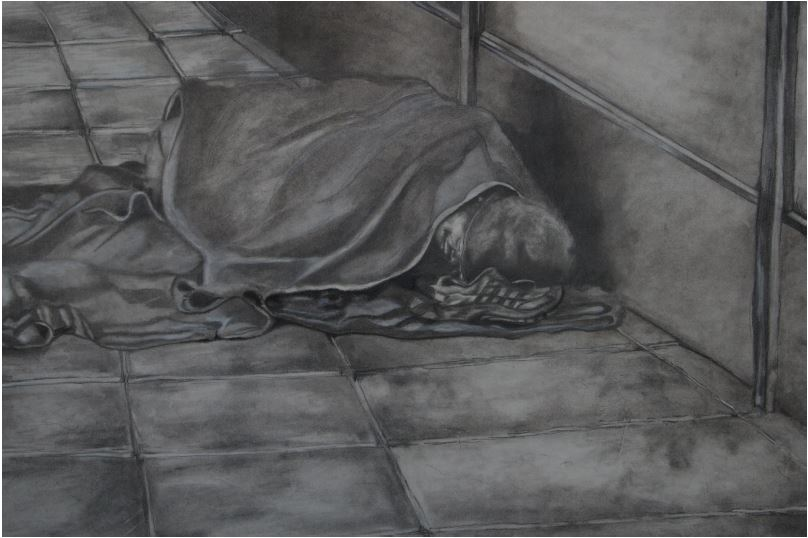 Hobo-2013-Pencil on paper-43 cm x 31 cm