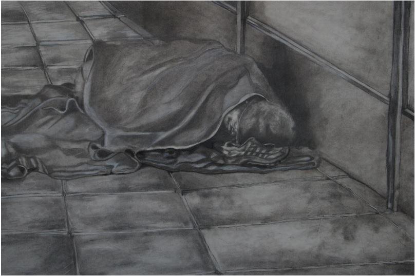 Hobo-2013-Pencil on paper-43 cm x 31 cm