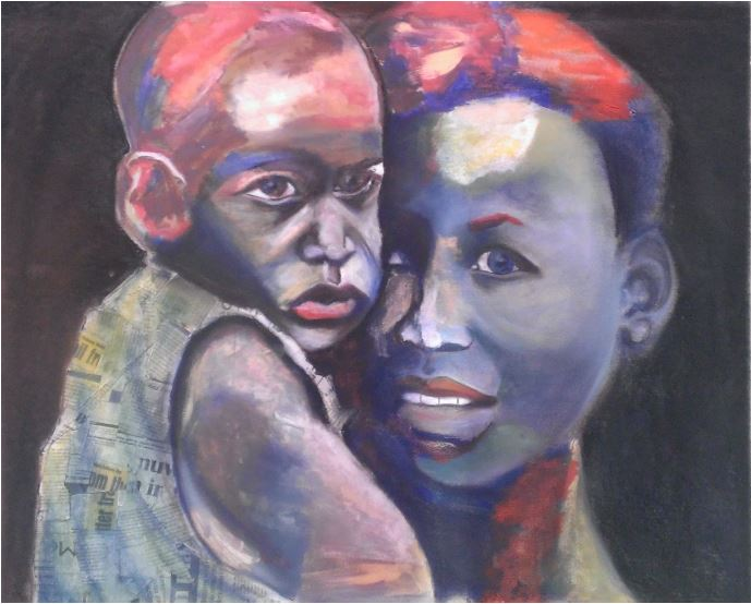 Mother and child - 2014 - Mixed media - 103 cm x 77 cm