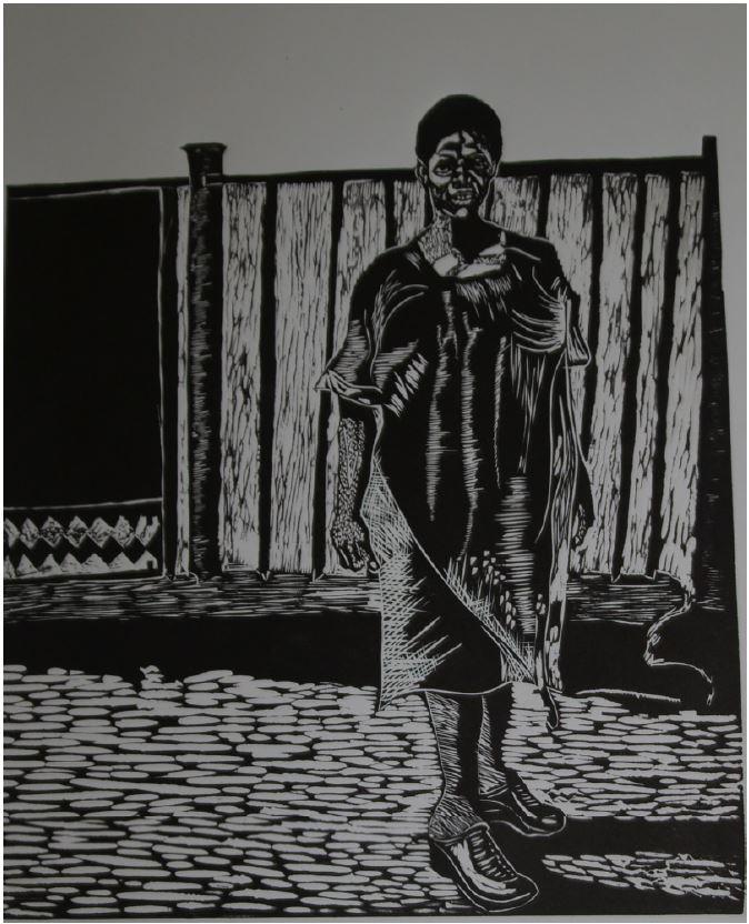 Nthabiseng-2014-Linocut print-43 cm x 69 cm