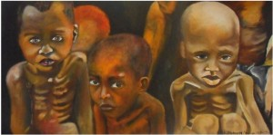 Pride of the unprivileged-2013-Oil paint on canvas-51 cm x 105 cm