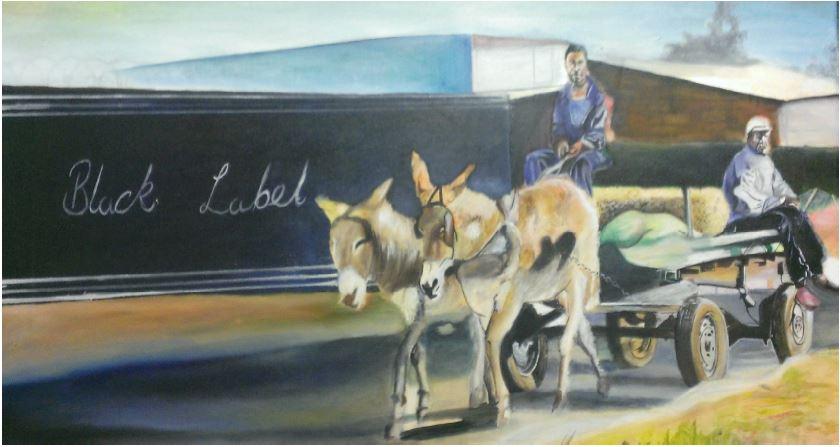 Symbiotic Business - 2014 - Oil paint on canvas - 76cm x 38.5cm