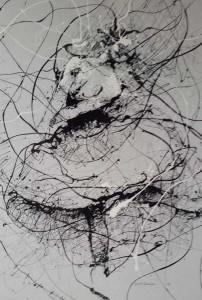 VN12- Dedication X, Enamel on canvas, 140cmX170cm