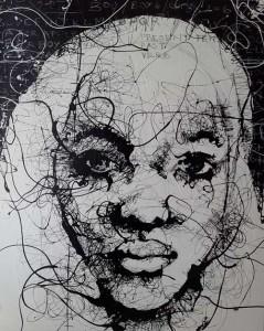 VN13- Uncertainty IV, Enamel on canvas, 140cmX170cm