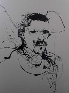 VN15- Man I, Enamel on hardpaper, 94cmX64cm