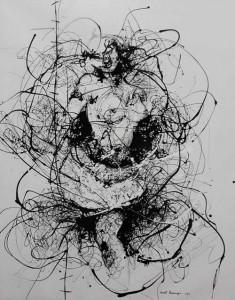 VN7- The dance I, Enamel on canvas, 124cmX156cm
