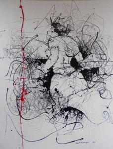VN8- The Dance II, Acrylic enamel on canvas, 124cmX157cm