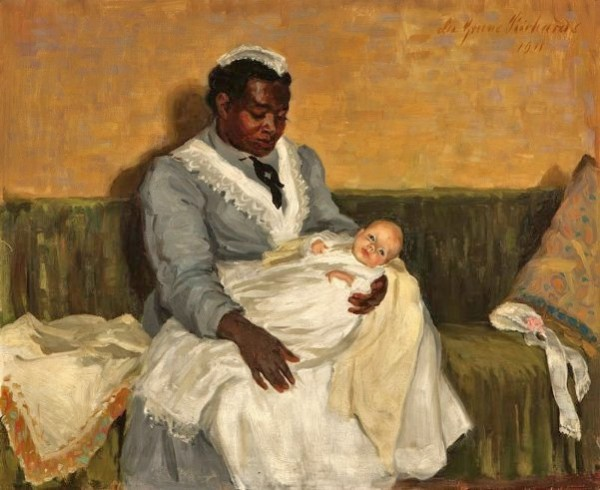 Lee-Greene-Richards-1878-–-1950-Nanny-Holding-a-Baby-1911-600x490
