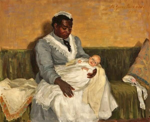 Lee-Greene-Richards-1878-–-1950-Nanny-Holding-a-Baby-1911-600x490