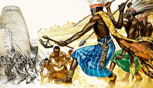 War-dance of Bantu tribesmen
