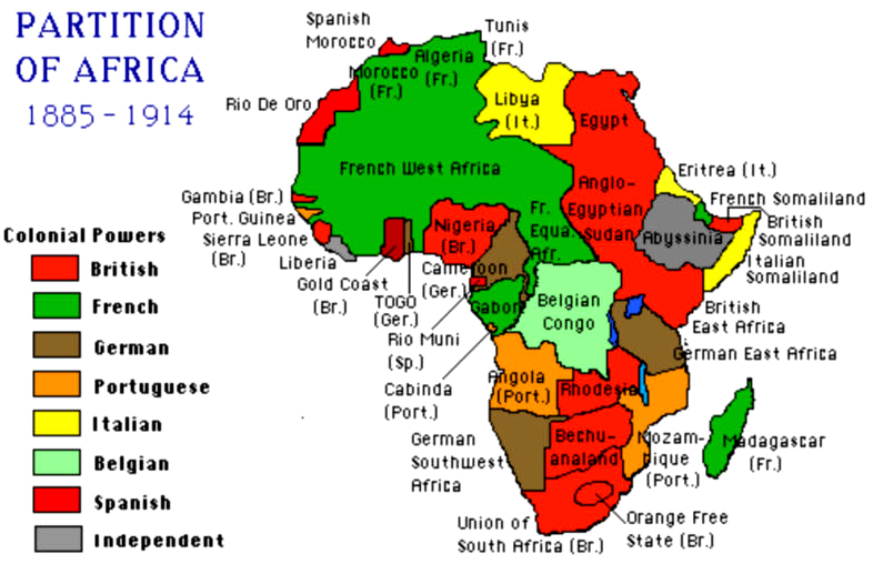 Partition Africa 1885