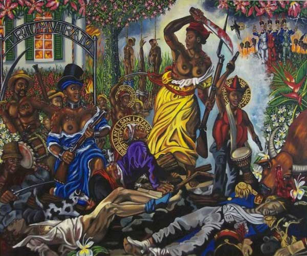 Carlota-Leading-the-Slaves-in-Matanzas-Cuba-1843-Oil-on-Canvas-2011-Lili-Bernard-600x499