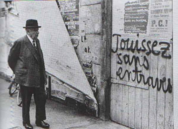 Situationist graffiti, late 1960's.