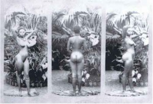 "A 20-year-old girl from South Africa known as Sarah ""Saartjie"" Baartman was recruited to work in a Paris zoo because of a genetic characteristic known as steatopygia — protuberant buttocks and elongated labia. Whites went to the zoo to look at her buttocks and at other naked Black women with the same shape."