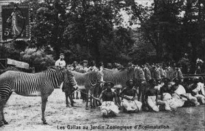 """This is one of France's many """"Negro Villages."""" It was said the village would often display Blacks to dehumanize them and compare them to animals."""