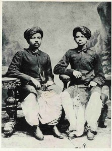 Gandhi (right) with brother