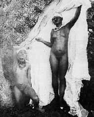 pornographic photograph of Herero girls taken by German soldiers